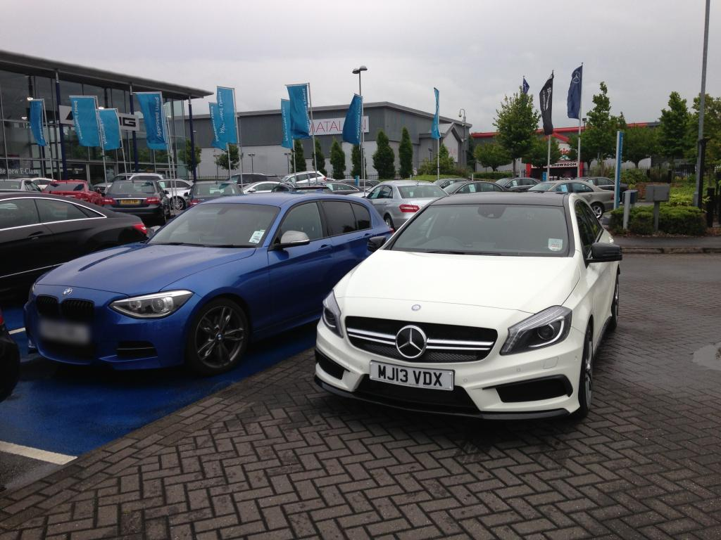 Owner comparison bmw f20 m135i vs mercedes benz a45 amg for Bmw mercedes benz