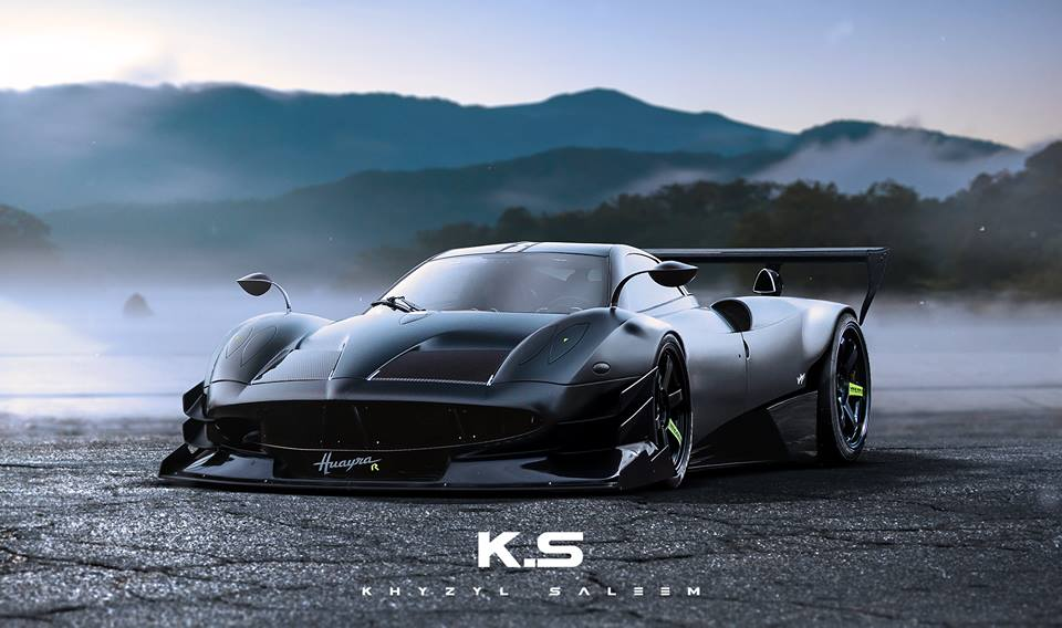 Pagani Huayra R Rendering Is A Terrifyingly Fast Taste Of