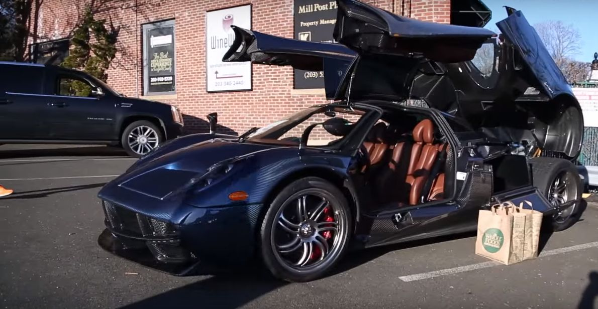 Pagani Huayra Used for Grocery Shopping Causes a Stir, but Does It