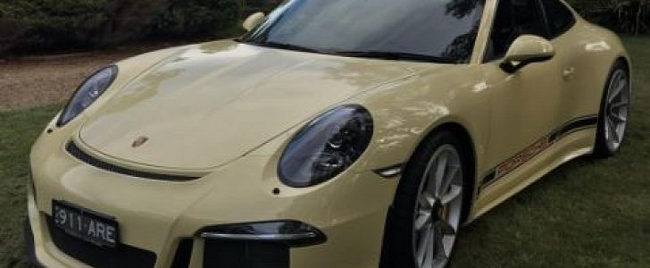 Paint To Sample Ivory Porsche 911 R Loses Stripes Looks