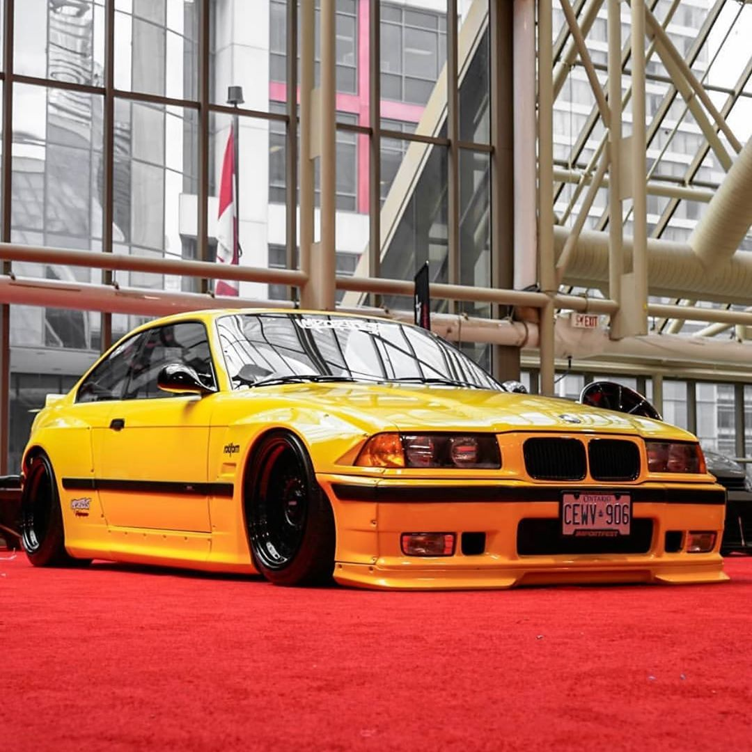 Pandem E36 Bmw M3 Looks Perfect In Yellow Autoevolution