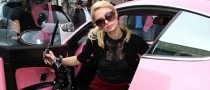 Paris Hilton Shows Off in Her Pink Bentley