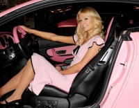 Paris Hilton wants to add a little sparkle to her pink Bentley