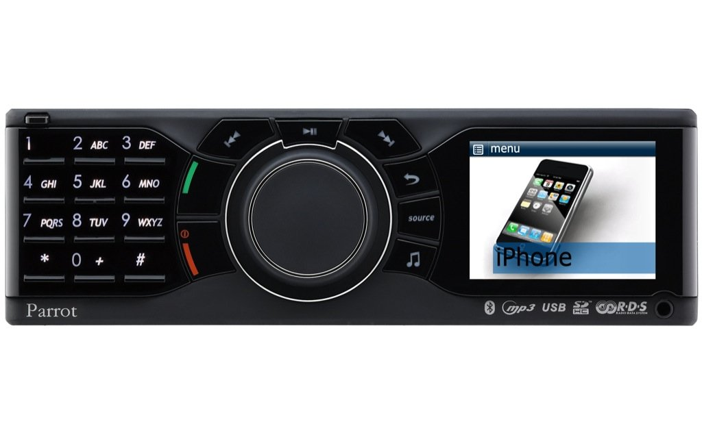 iphone car radio parrot rki8400 iphone car stereo now available autoevolution 11701