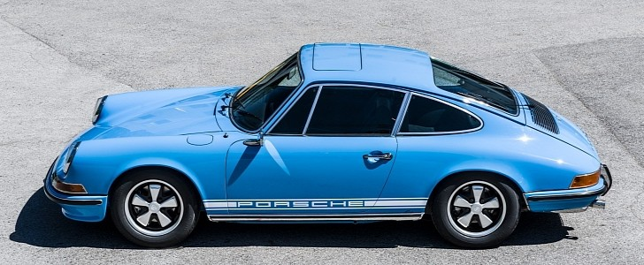 Pastel Blue 1970 Porsche 911S Has Been Immaculately Restored