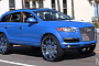 Pearl Blue Audi Q7 on 30-Inch Wheels [Video]