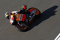 Dani Pedrosa while he was still a title contender at Aragon