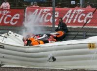 Images from Pedrosa's crash at Sachsenring last year