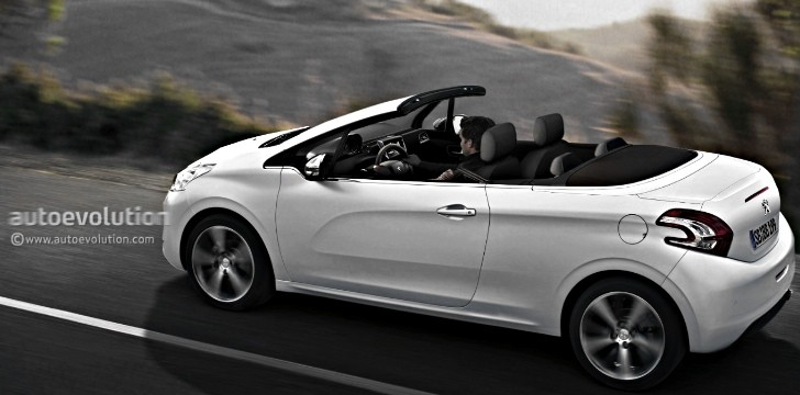 peugeot 208 cabriolet coming in 2015 with fabric roof autoevolution. Black Bedroom Furniture Sets. Home Design Ideas