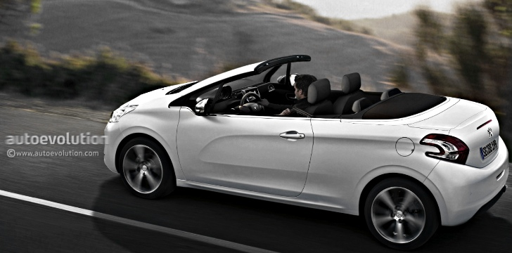 Peugeot 208 cabriolet coming in 2015 with fabric roof autoevolution