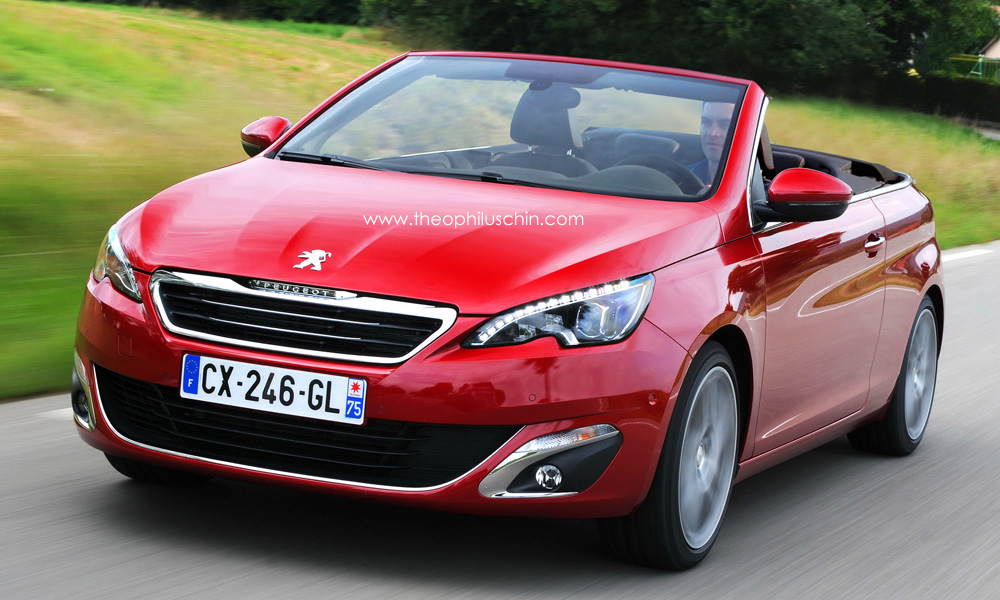 peugeot 308 cabriolet rendered autoevolution. Black Bedroom Furniture Sets. Home Design Ideas