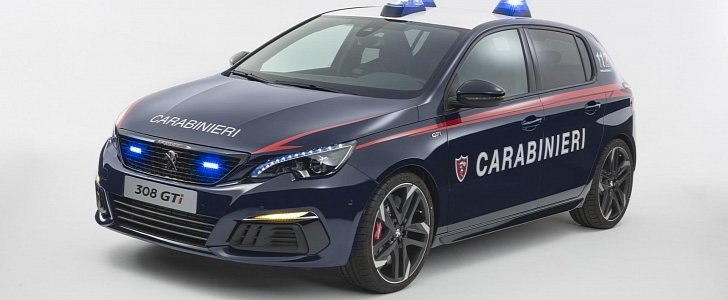 Peugeot 308 GTi Hot Hatch Delivered to Carabinieri