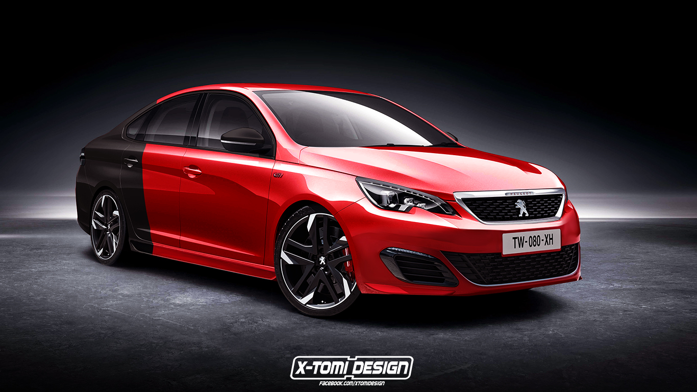 peugeot 308 gti sedan rendering is based on a car sold in china