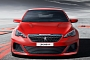Peugeot 308 R Concept Revealed: 1.6 Turbo with 270 HP, Manual and LSD