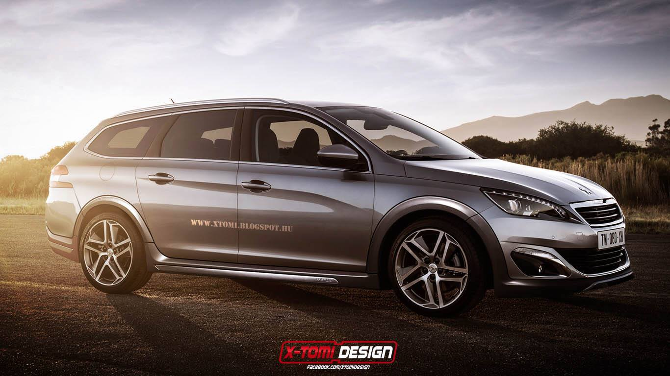 Peugeot 308 Rxh Looks Ready To Take On Volkswagen Golf Alltrack Autoevolution
