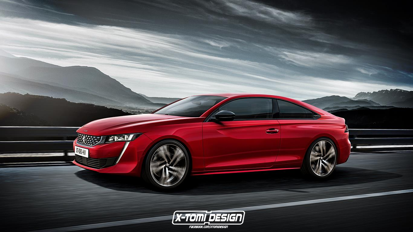 peugeot 508 coupe rendering doesn 39 t look as good as sedan autoevolution. Black Bedroom Furniture Sets. Home Design Ideas