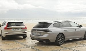 Peugeot 508 SW Takes on Volvo V60 in Battle of the Sexy European Wagons