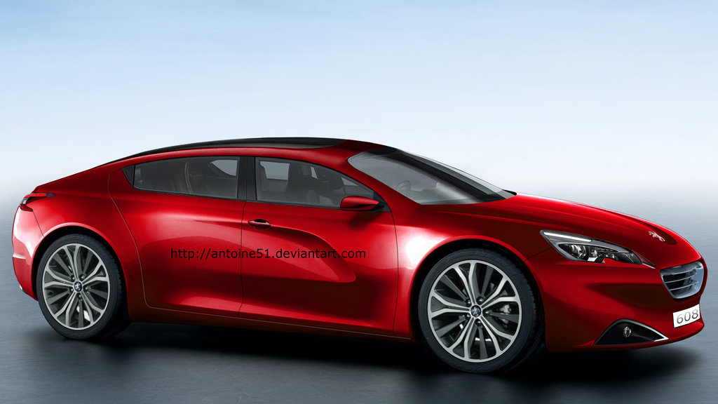 Peugeot 608 Four Door Coupe Rendering Is A French Panamera