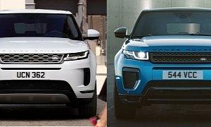 Photo Comparison: 2020 Range Rover Evoque vs  2015 Range Rover