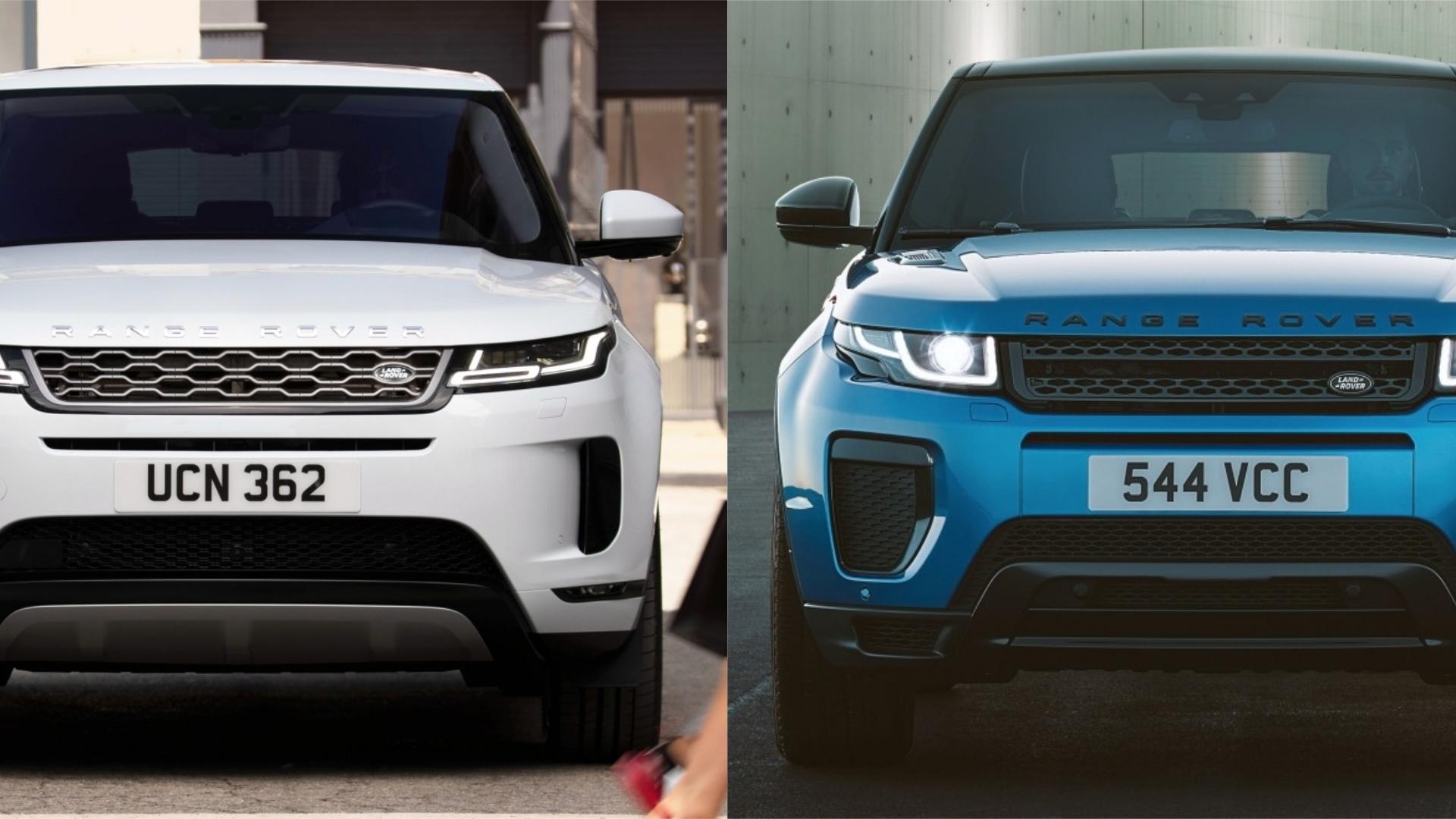 Photo Comparison 2020 Range Rover Evoque Vs 2015 Range Rover