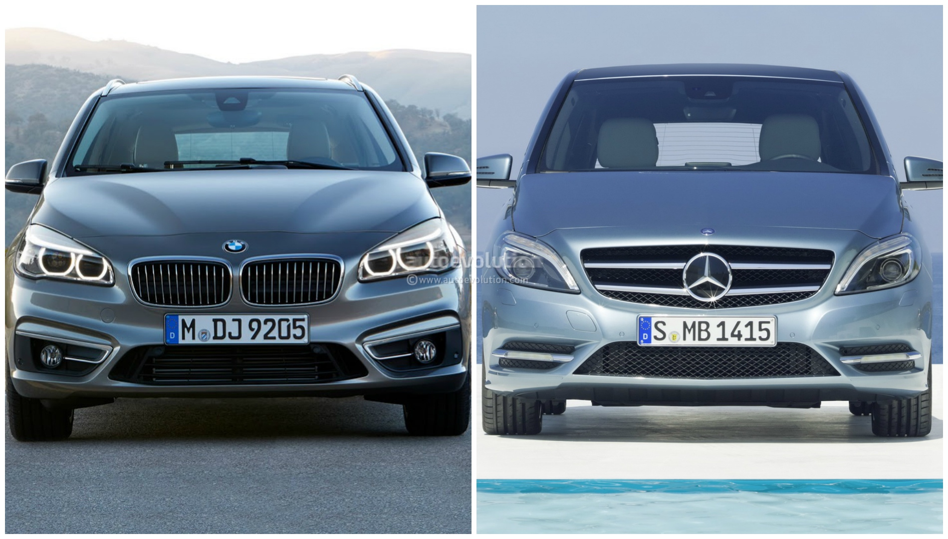 Photo comparison bmw 2 series active tourer vs mercedes b for B series mercedes benz