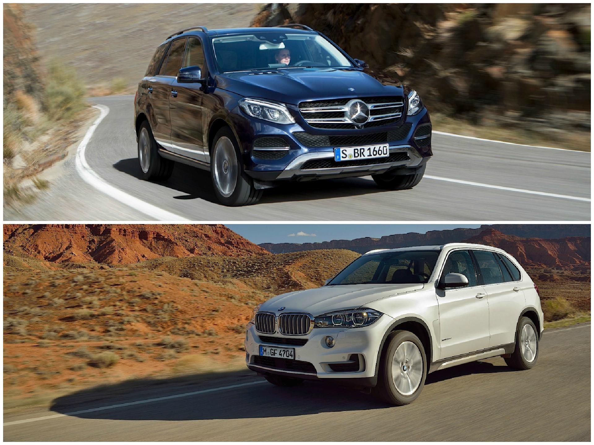 Photo comparison bmw f15 x5 vs mercedes benz gle for Mercedes benz vs bmw