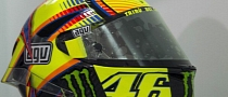 Photos of Rossi's Actual Racing Helmet