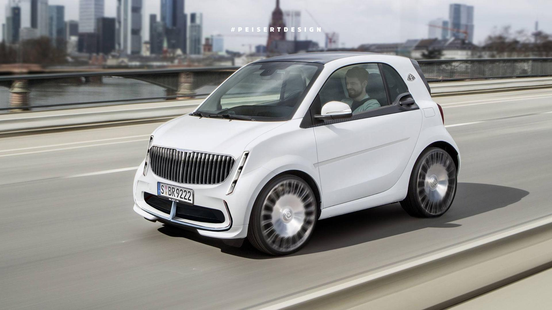 Photoshop Artist Imagines Smart Fortwo Ed With Maybach Design
