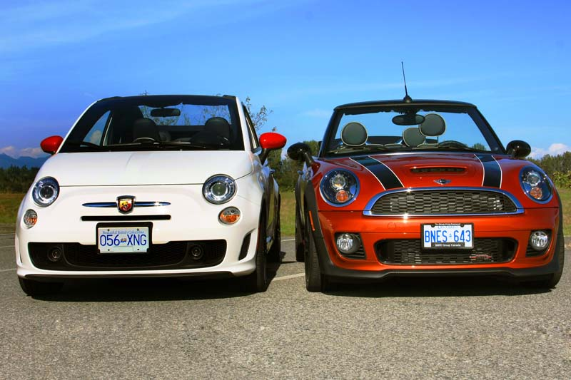 picking the perfect convertible mini jcw or 500 abarth autoevolution. Black Bedroom Furniture Sets. Home Design Ideas