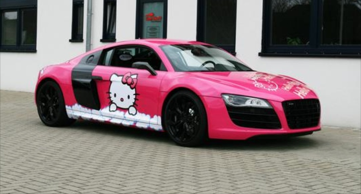 Pink Audi R8 V10 Hello Kitty Loves You Autoevolution