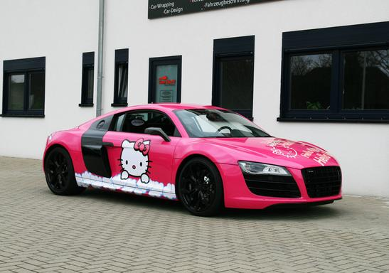 Pink Audi R8 V10 Hello Kitty