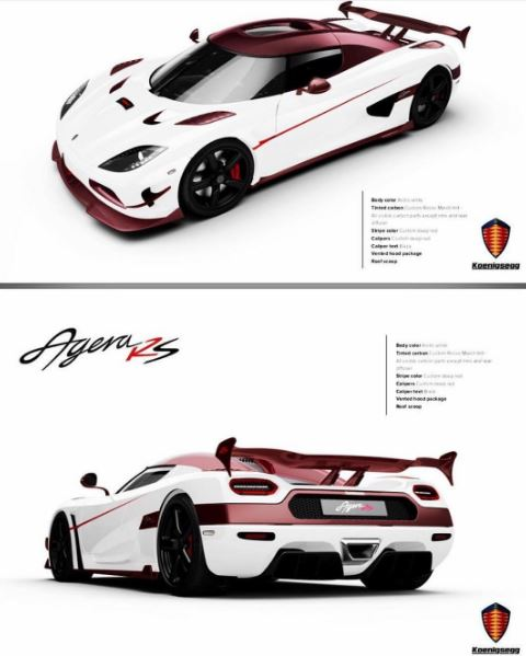Koenigsegg Agera Rs White: Pink Carbon Koenigsegg Agera RS With 1,360 HP One:1 Engine