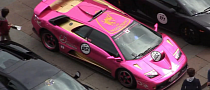 Pink Diablo with Gold and LEDs Joints Lambo Party [Video]
