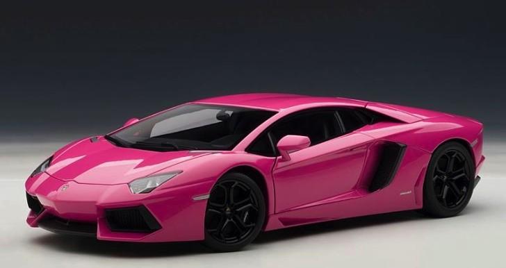 Pink Lamborghini Aventador Scale Model Autoevolution