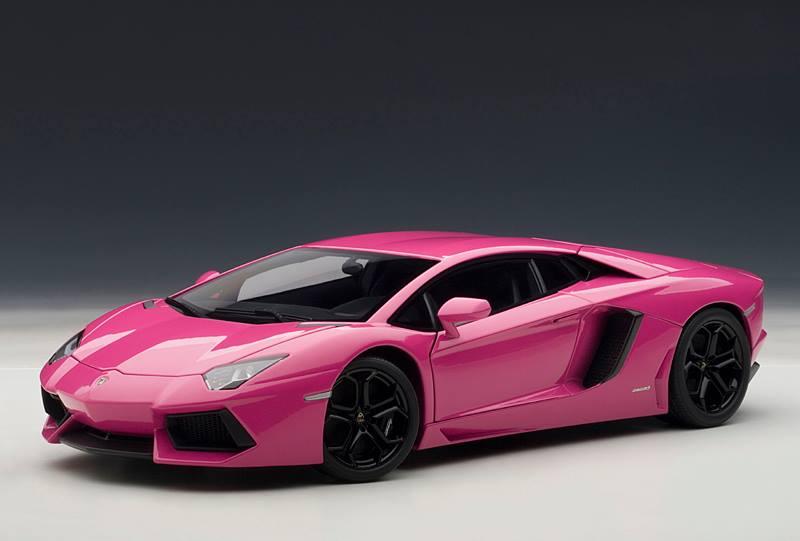 Lamborghini Aventador Spyder >> Pink Lamborghini Aventador Scale Model - autoevolution