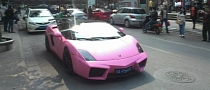 Pink Lamborghini Gallardo in China