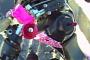 Pink Supermoto Girl Stuck on 5 Feet of Ice [Video]