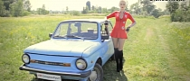 Playboy Blonde Tests Car from USSR! [Video]