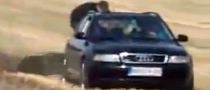 Plowing with an Audi A4 Avant quattro [Video]