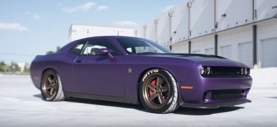 plum crazy dodge challenger hellcat gets adv 1 wheels with exposed. Cars Review. Best American Auto & Cars Review
