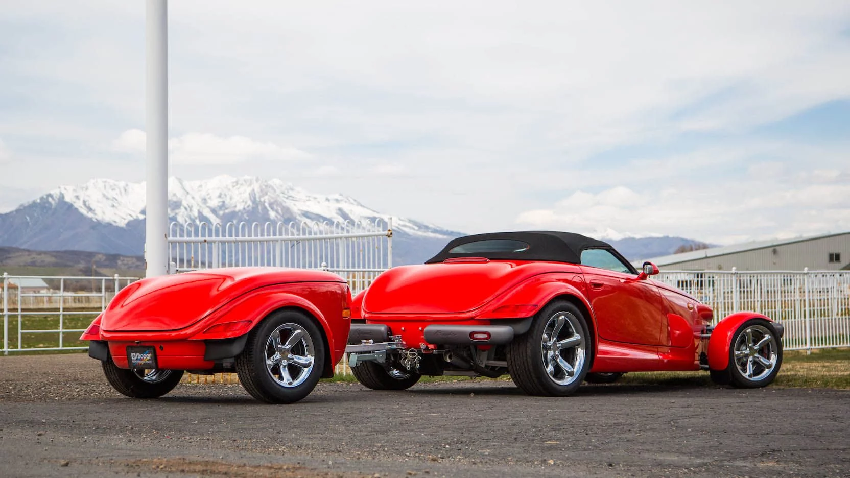 Plymouth Prowler With 134 Miles And Matching Trailer Hits