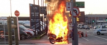 Police BMW Motorcycle Mysteriously Ablaze in New Zealand