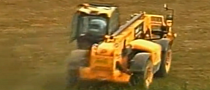 Police Chase Stolen JCB Forklift Through Cemetery [Video]