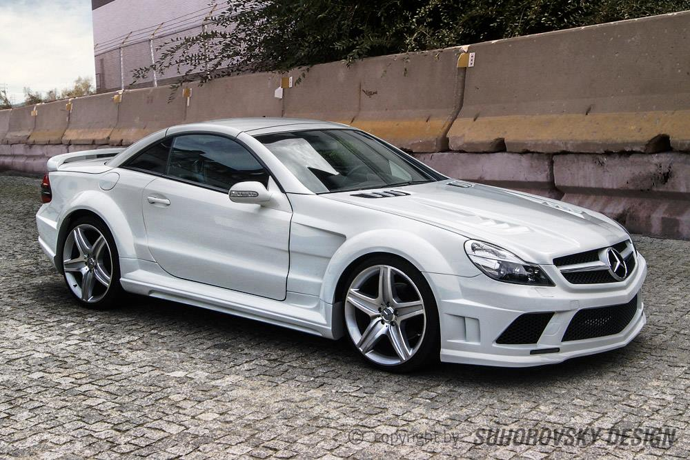 Polish wide body kit for the r230 mercedes benz sl autoevolution