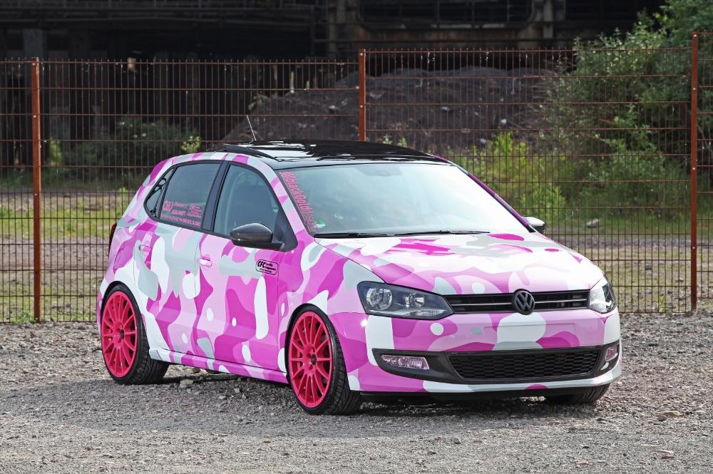Polo 6 Gti Modified >> Polo GTI Gets Interesting Pink Camo Wrap - autoevolution