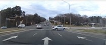 Pontiac G6 Driver Does All Kinds of Wrongs Through Busy Intersection