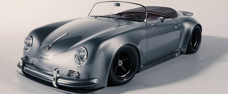 Porsche 356 Speedster Gets Whale Tail Spoiler in Amazing Widebody Rendering