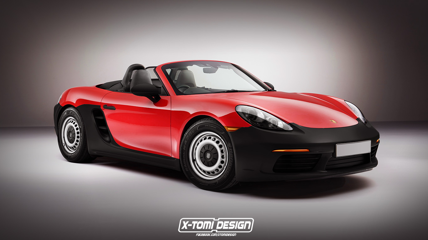 Porsche 718 Boxster Base Spec Rendered With Plastic