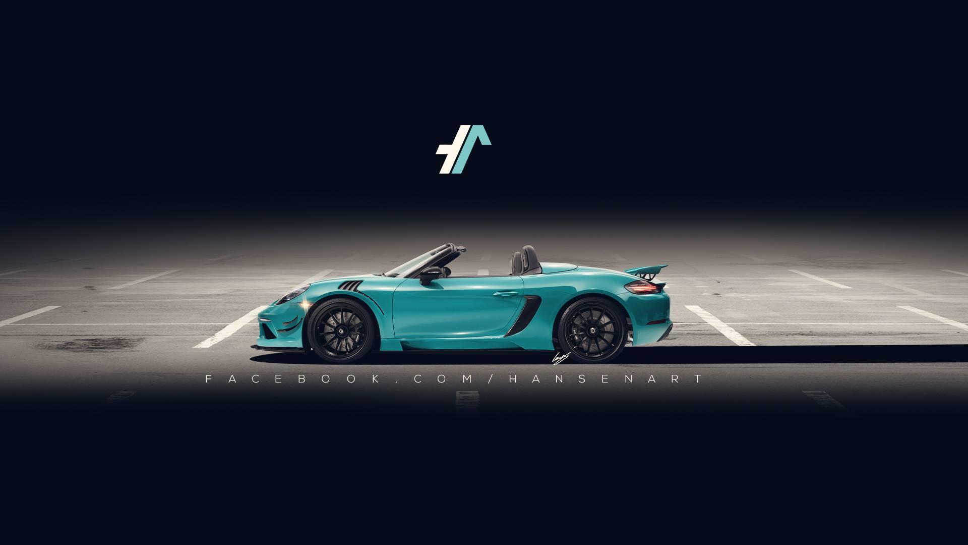 Porsche 718 Boxster GT4 Rendering Brings GT3 RS Elements ...