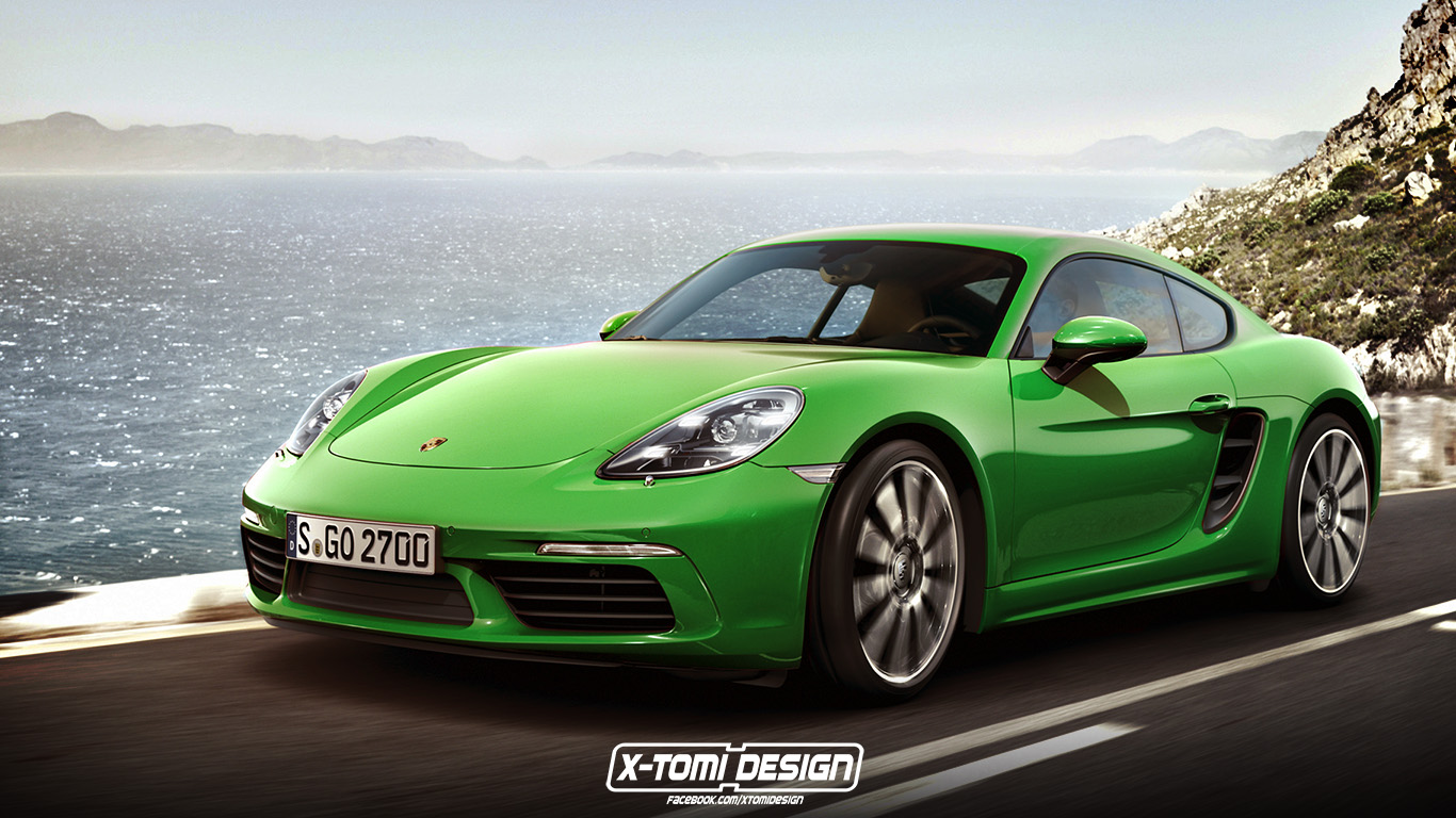 porsche 718 cayman rendering is as good as the actual car. Black Bedroom Furniture Sets. Home Design Ideas